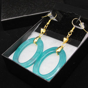 Gold Plated Oval Elegance Earrings